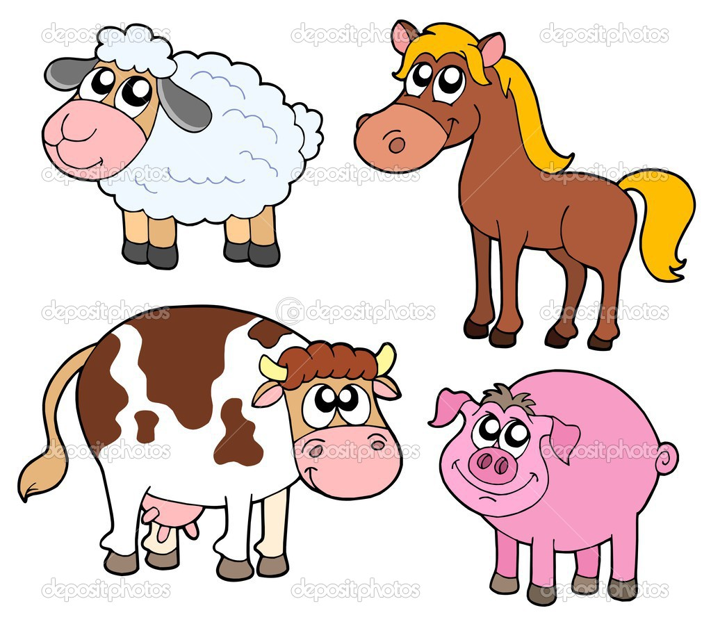Farm animals collection - vector illustration. — Stock Vector #2201188