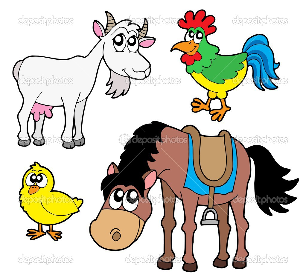Farm animals collection 2 stock illustration