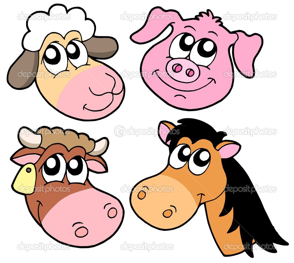 Farm animals details collection - vector illustration. — Stock Vector #2201268