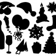 Christmas silhouette collection 03 — Stock Vector