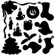 Royalty-Free Stock Vektorov obrzek: Christmas silhouette collection 01