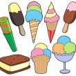 Royalty-Free Stock Vector Image: Ice cream collection