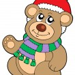 Christmas teddy bear — Vector de stock #2250211