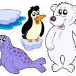 Ice animals collection - Stock Vector