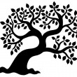 Leafy tree silhouette — Stockvectorbeeld