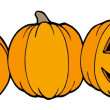 Royalty-Free Stock Vektorgrafik: Line of pumpkins
