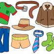 Man clothes collection - Stock Vector