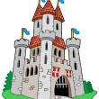 Stock Vector: Medieval castle