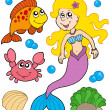Royalty-Free Stock Vector Image: Mermaid collection