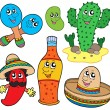 Royalty-Free Stock Vector Image: Mexican cartoon collection