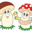 Mushroom and toadstool — Stock Vector
