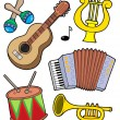 Stock Vector: Music instruments collection 1