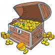 Open treasure chest - Stock Vector