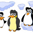 Penguins collection — Stockvektor