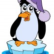 Stock Vector: Penguin on iceberg