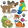 Stock Vector: Pet collection