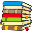 Pile of books - Stock Vector