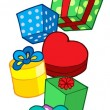 Pile of Christmas gifts — Stock Vector