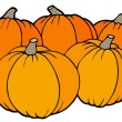 Pile of pumpkins - Stock Vector