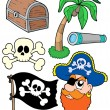 Stock Vector: Pirate collection 2