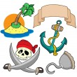 Stock Vector: Pirate collection 4