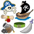 Stock Vector: Pirate collection 3