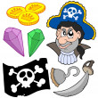 Pirate collectie 5 — Stockvector