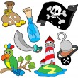 Stock Vector: Pirate collection 6