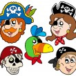 Pirate characters collection - Stock Vector