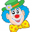 Portrait of clown vector illustration - Stock Vector