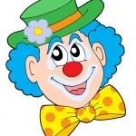 Portrait of clown vector illustration — Stock Vector