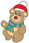 Christmas teddy bear — Vector de stock