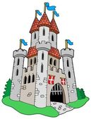 Medieval castle — Stock Vector