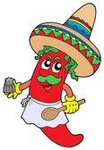 Mexican chilli chef — Stock Vector
