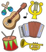 Music instruments collection 1 — Stock Vector