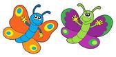 Pair of funny butterflies — Stock Vector