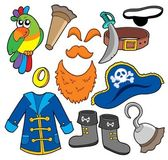 Pirate clothes collection — Stock Vector