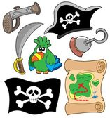 Pirate equipment collection — Stock Vector
