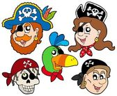 Pirate characters collection — Stock Vector