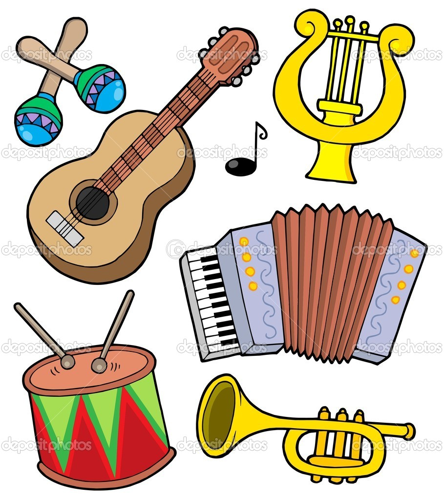 Music instruments collection 1 - vector illustration. — Stock Vector #2259296