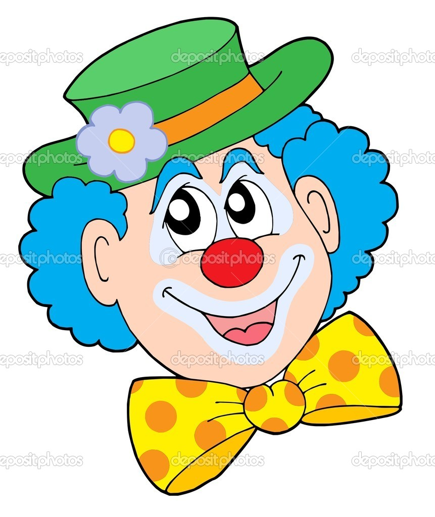 Portrait of clown - vector illustration. — Stock Vector #2259957