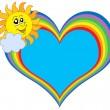 太陽と虹の中心 — ストックベクタ