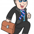 Running businessman — Stock Vector
