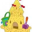 Royalty-Free Stock Imagen vectorial: Sand castle