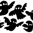 Scary ghost silhouettes — Stock Vector