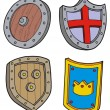 Royalty-Free Stock Vector Image: Shield collection