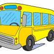 School bus vector illustration - 图库矢量图片