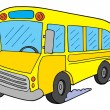 School bus vector illustration - Vettoriali Stock