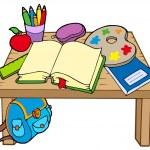 School table 2 — Stock Vector