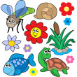 Small animals collection 5 — Stock Vector